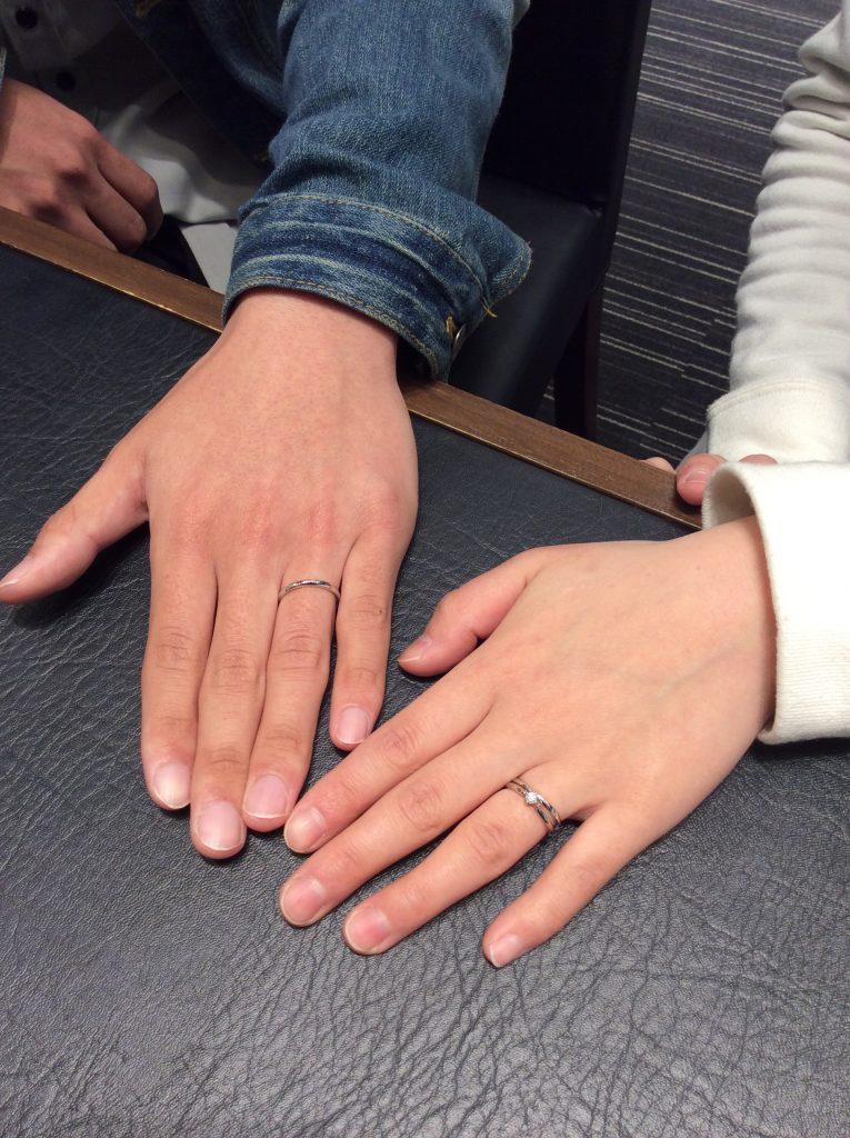 ルシエのリファージュ(結婚指輪)をご成約いただきました/R様&A様