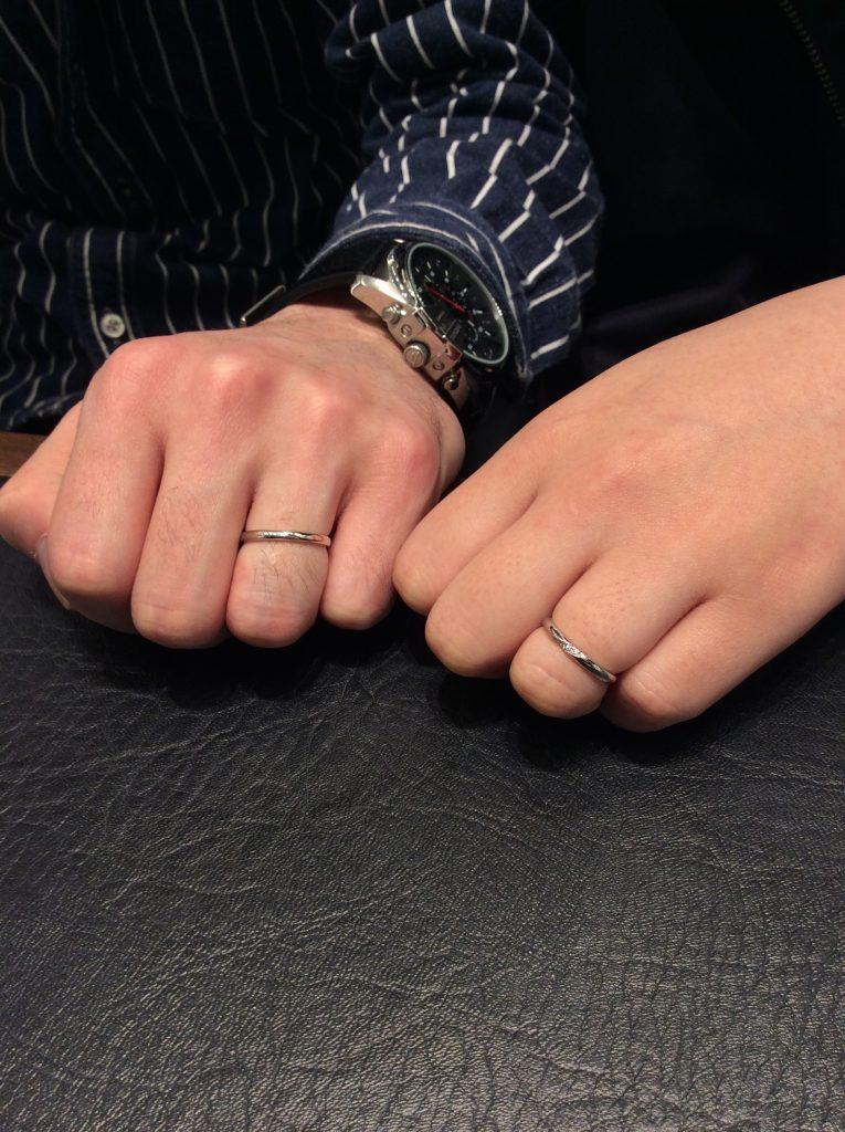 「ことのは」俄(にわか)の結婚指輪をお作りいただきました/K様&M様