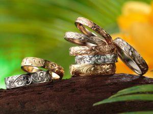 ハワイアンジュエリーの結婚指輪「イモータル」