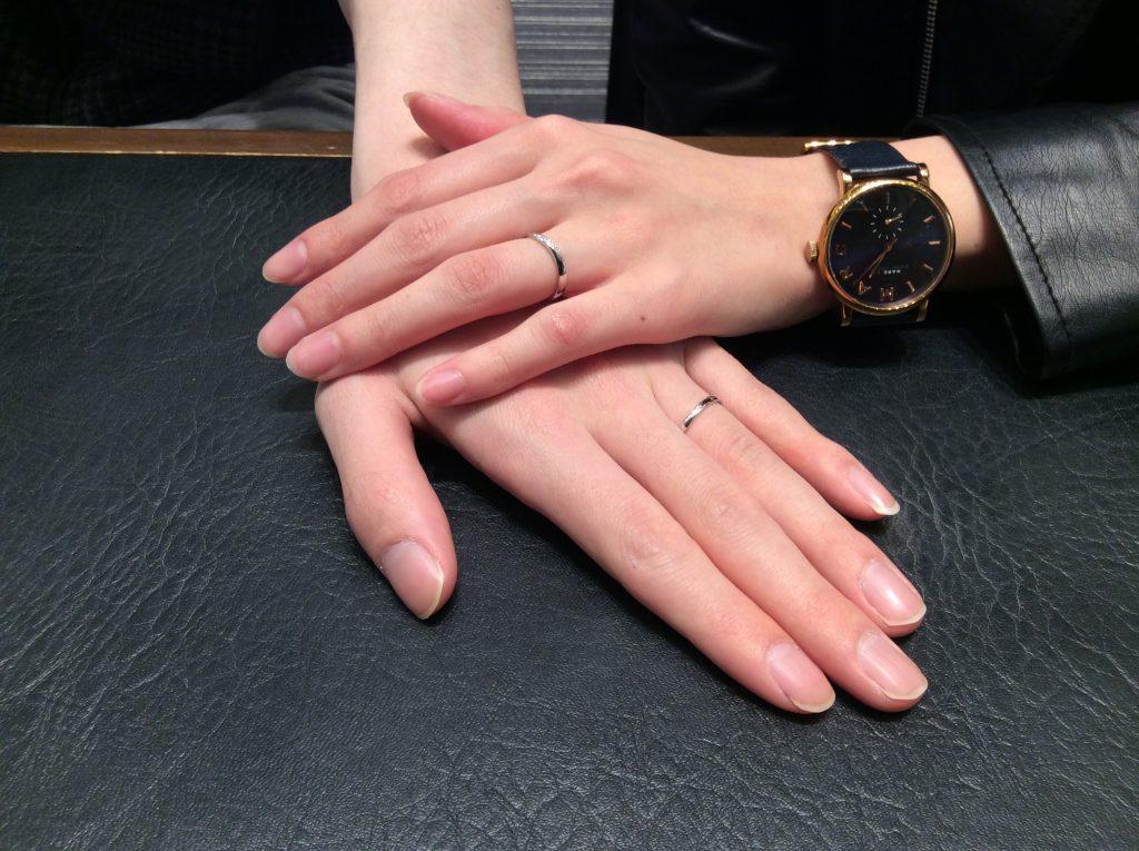 「ことのは」俄(にわか)の結婚指輪をお選びいただきました/新潟市T様・A様