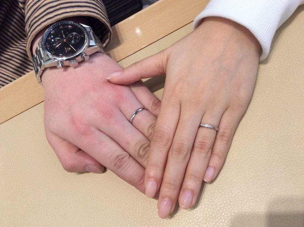 「デザインとフィット感が決め手」ロイヤルアッシャーの結婚指輪をご成約/T様・S様