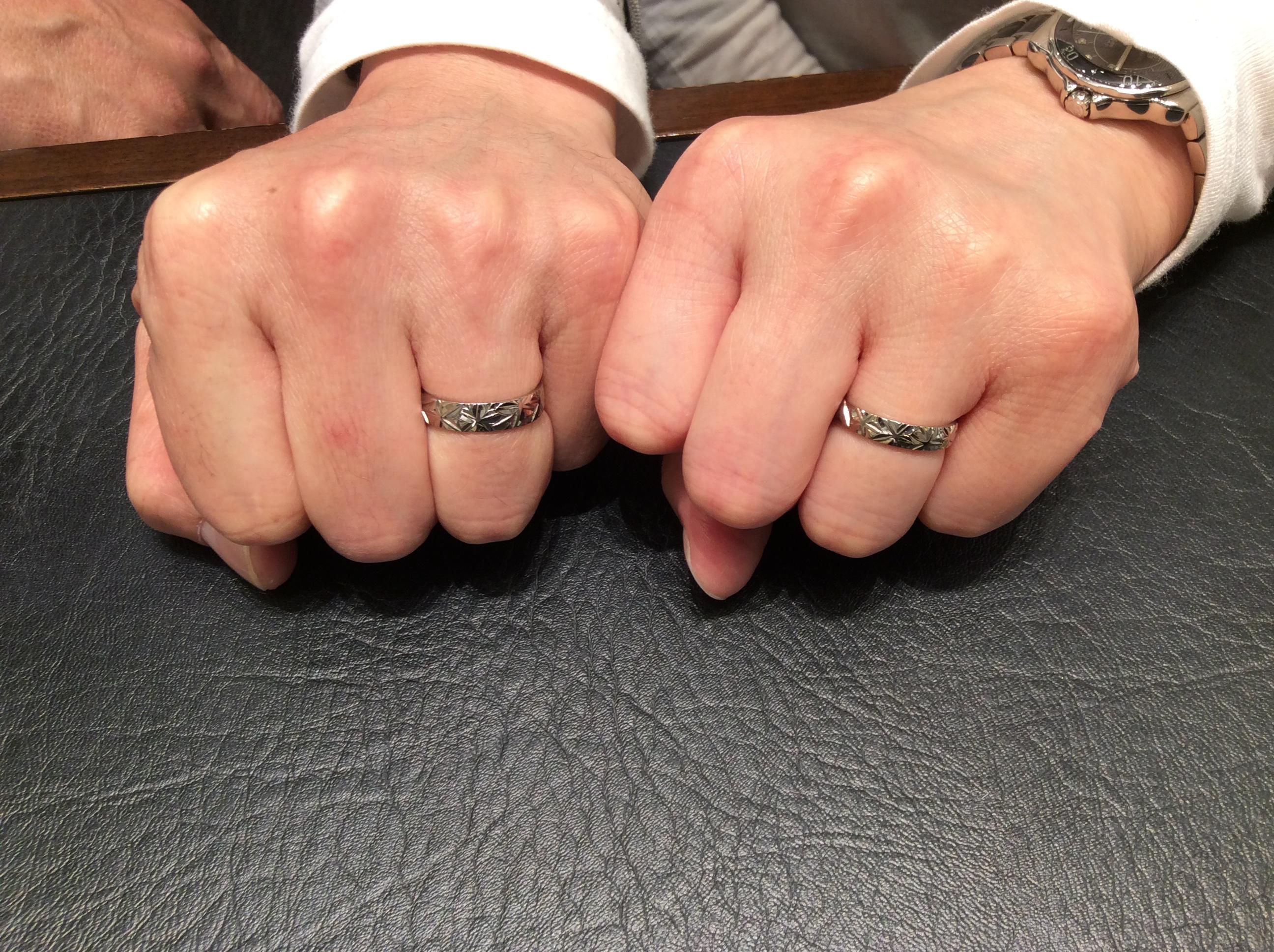 俄(にわか)「秋の紅」(結婚指輪)をご成約いただきました/新潟市A様&A様