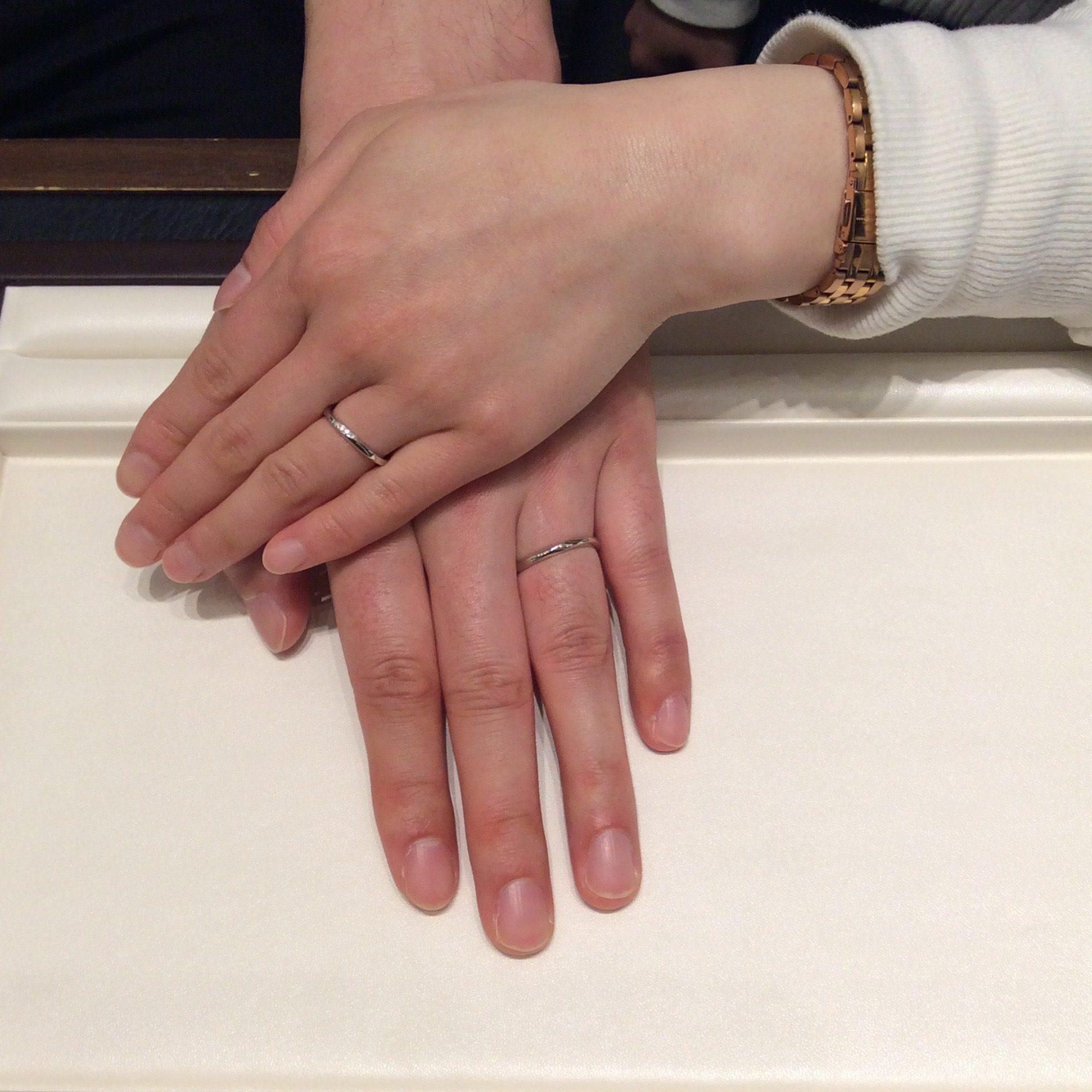 朝葉(あさは)~俄(にわか)の結婚指輪をご成約∼T様&N様