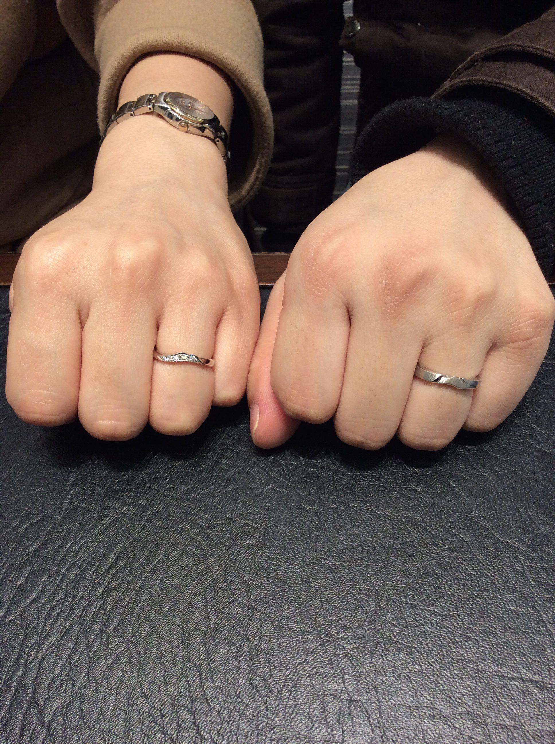 俄(にわか)の結婚指輪「唐花」をご成約/D様&J様