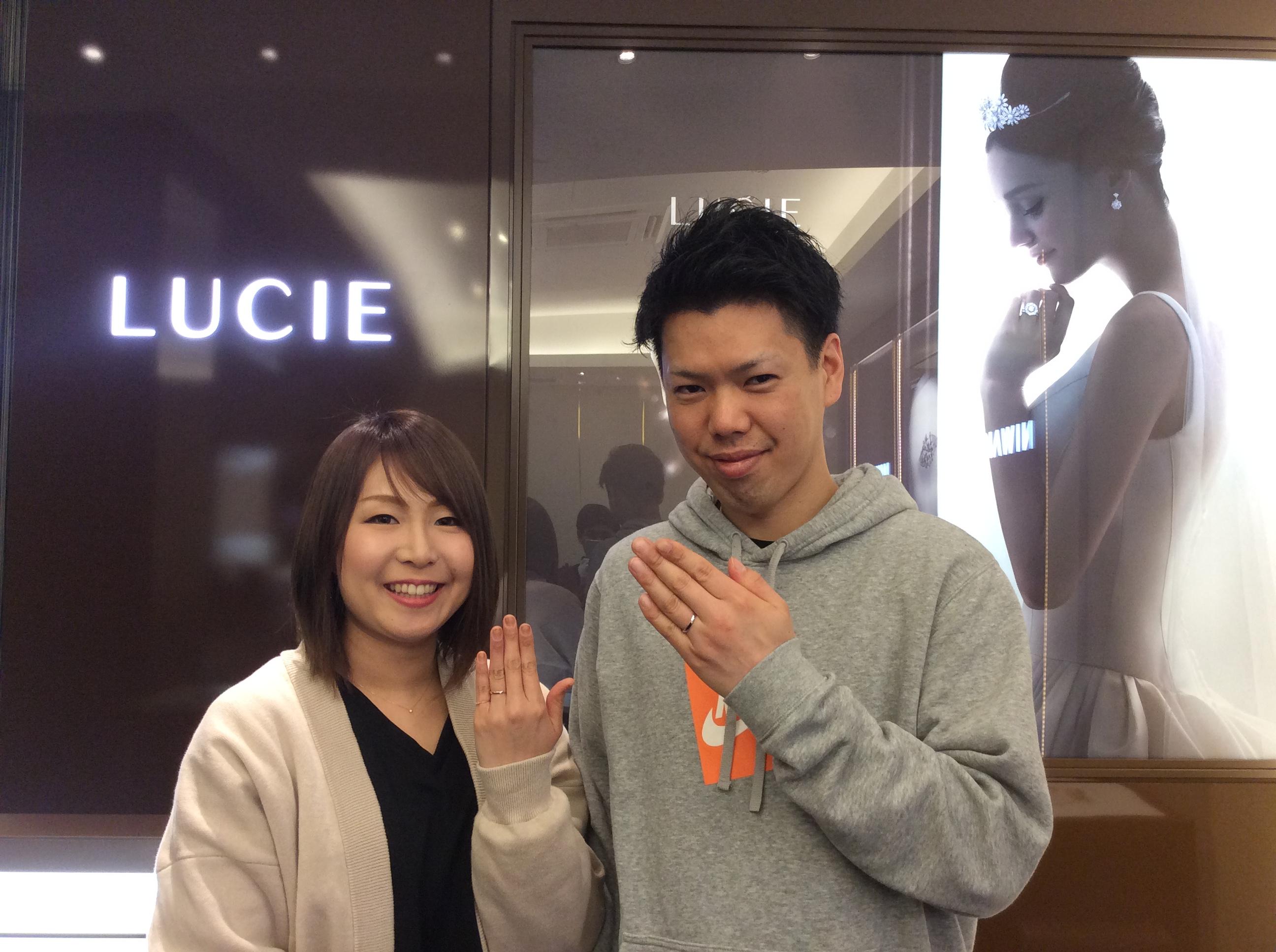 【糸魚川市】結婚指輪「ルシエのネッサンス」をご成約いただきました/S様&M様