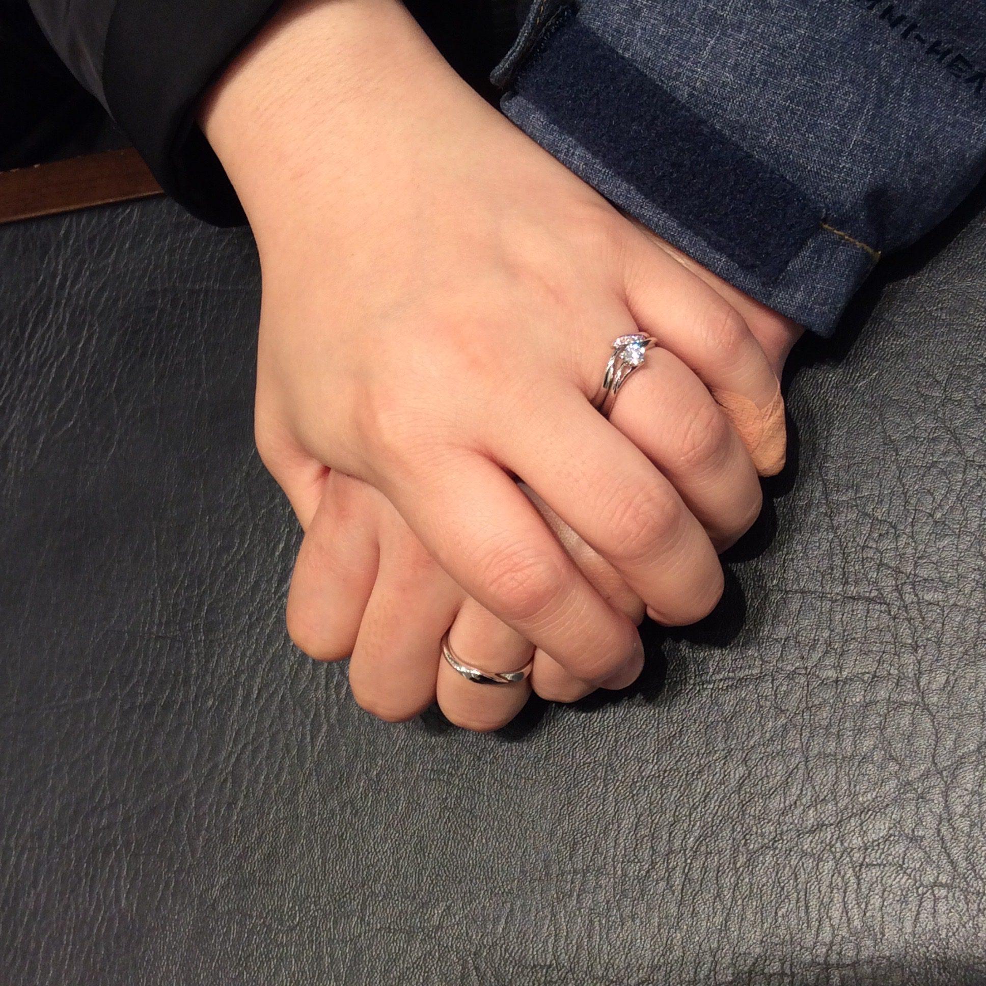 【婚約指輪 結婚指輪】俄(にわか) 初桜(ういざくら)ご成約いただきました/伊藤峻様・石井比瑠様