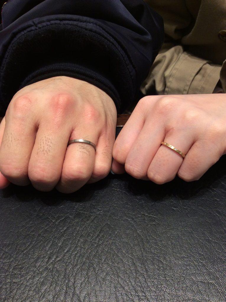 ルシエ「パレ」(結婚指輪)をご成約いただきました/新潟市M様&M様