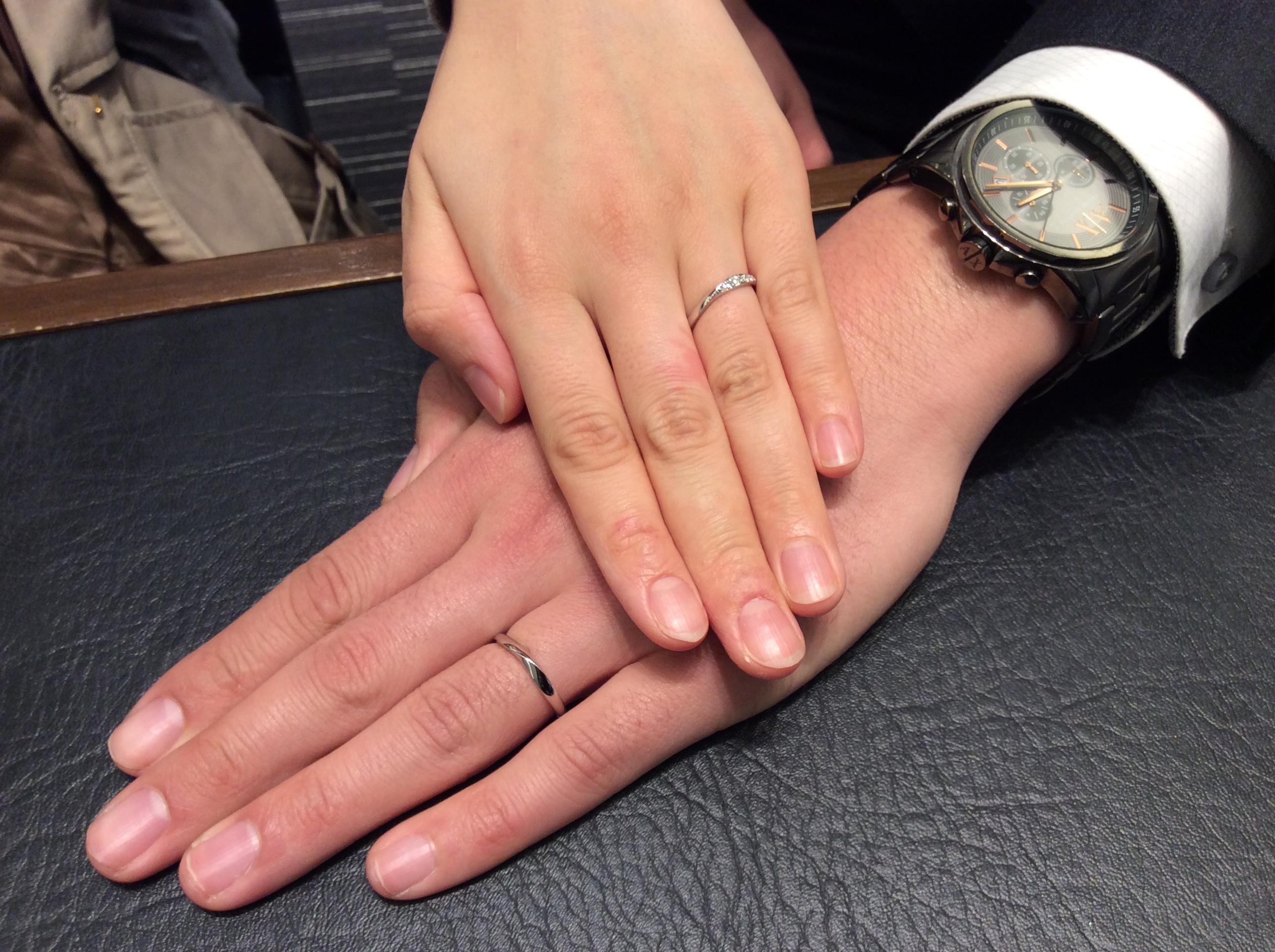 【福島県】結婚指輪 「ロイヤル・アッシャー」をご成約いただきました/H様&C様