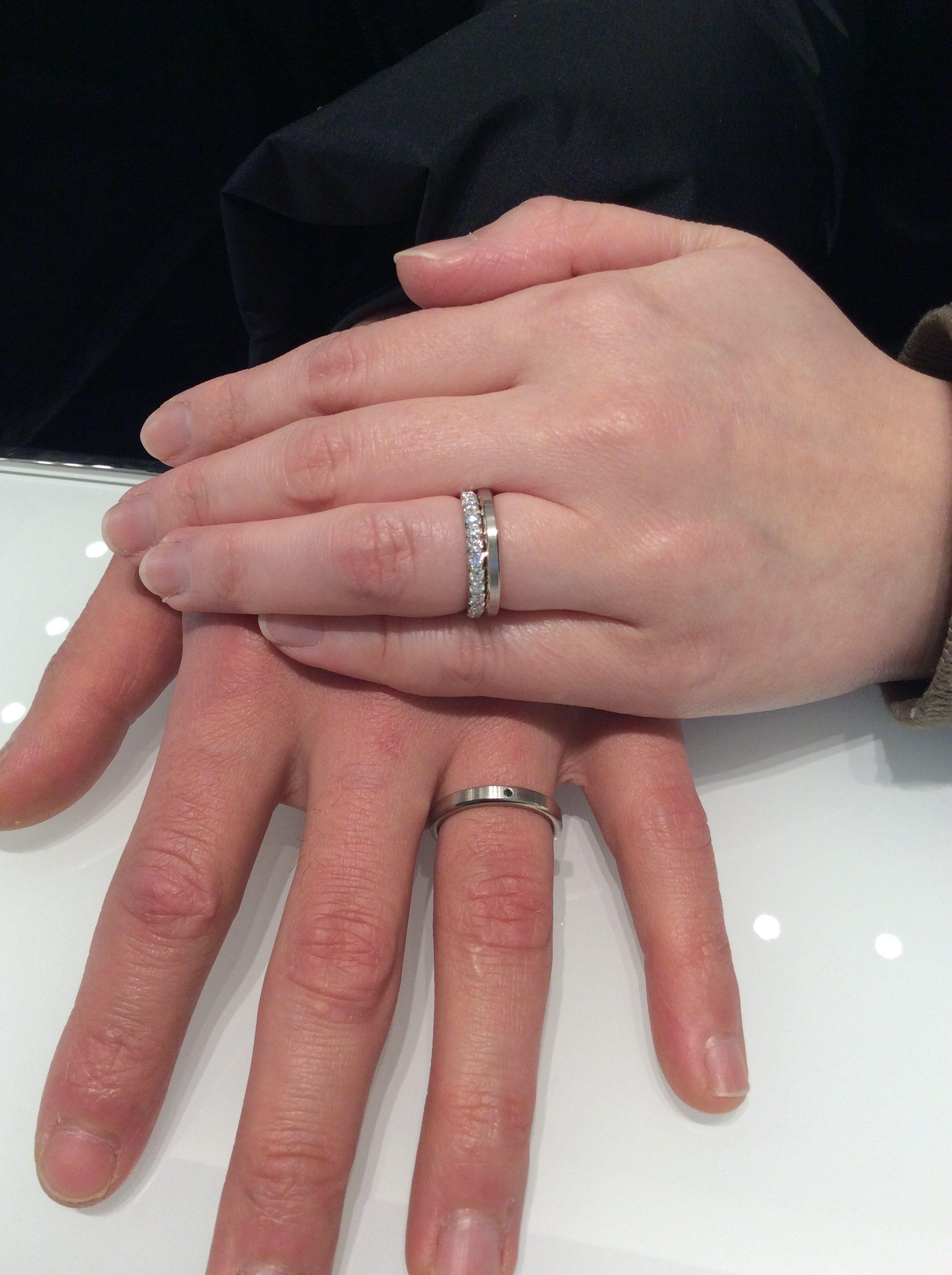 俄(にわか)の婚約指輪&N.Y.俄(ニューヨーク俄)の結婚指輪をご成約/Y様&S様