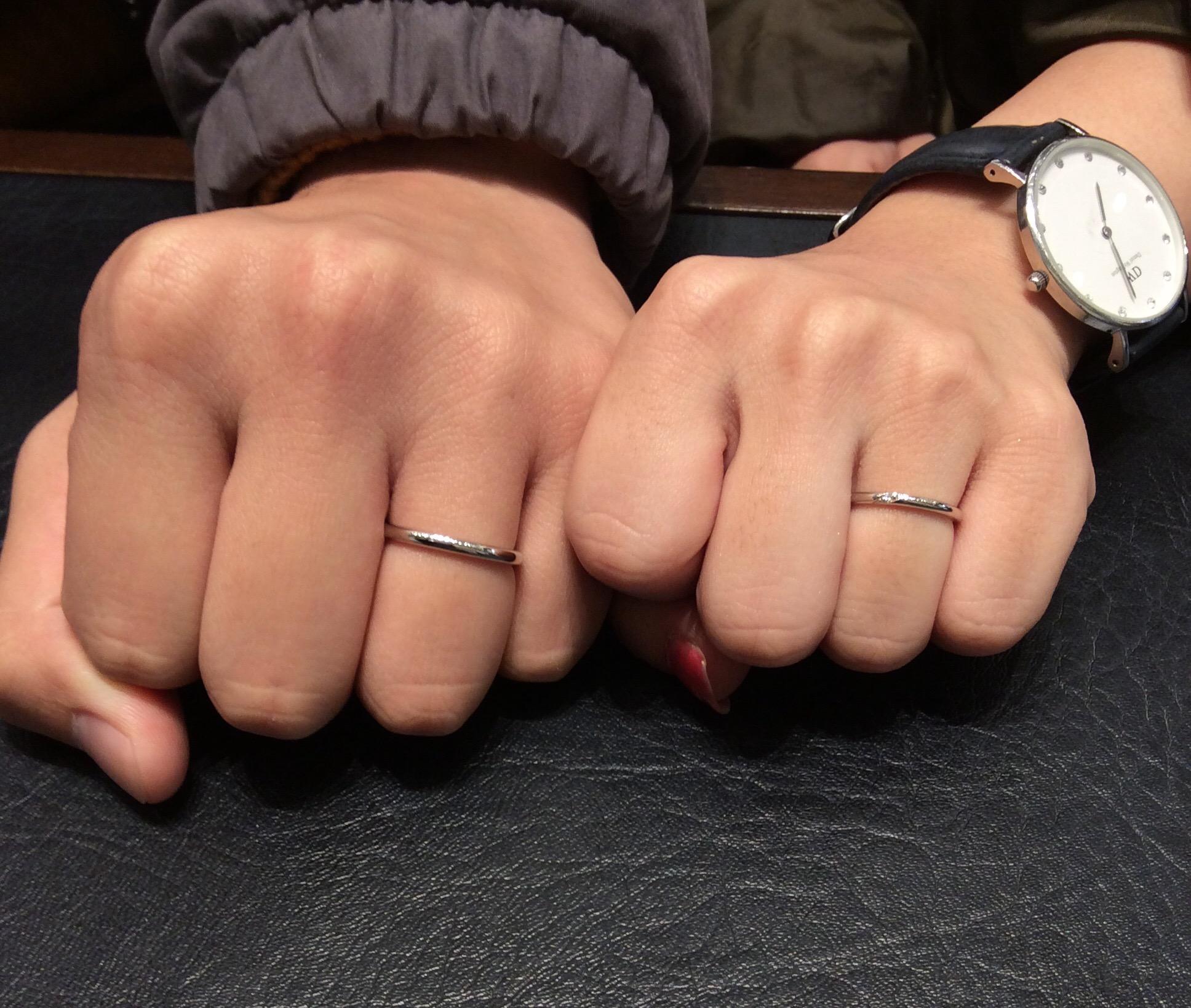 ポンテヴェキオの結婚指輪「モルビド」をご成約/石川慎様&山崎育実様