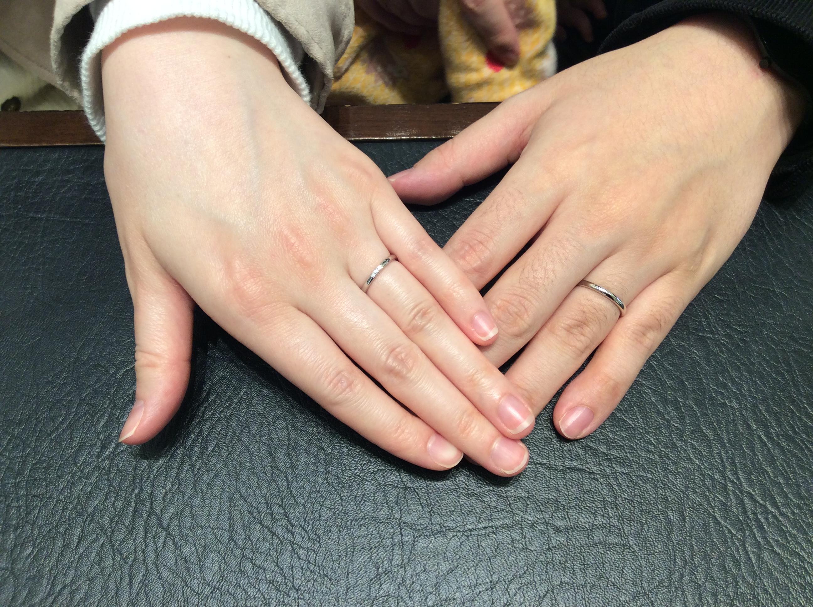 ポンテヴェキオの結婚指輪をご成約いただきました/新潟市西区K様・S様
