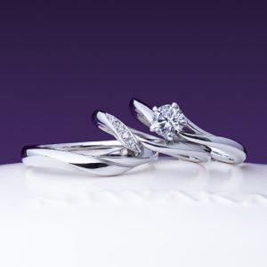 俄(にわか)婚約指輪(エンゲージリング)結婚指輪(マリッジリング) 初桜(ういざくら)画像