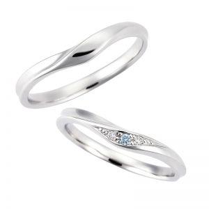 スイートブルーダイヤモンド結婚指輪(マリッジリング) LB00015・LB00014画像