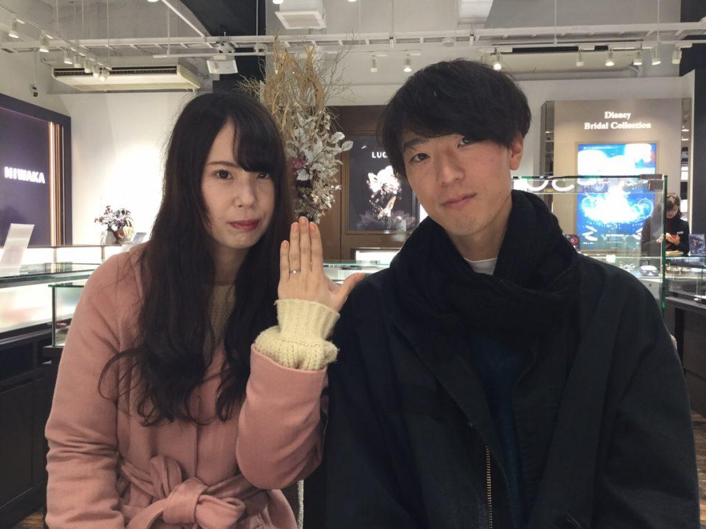 プティの婚約指輪をご成約いただきました/新潟市F様&M様