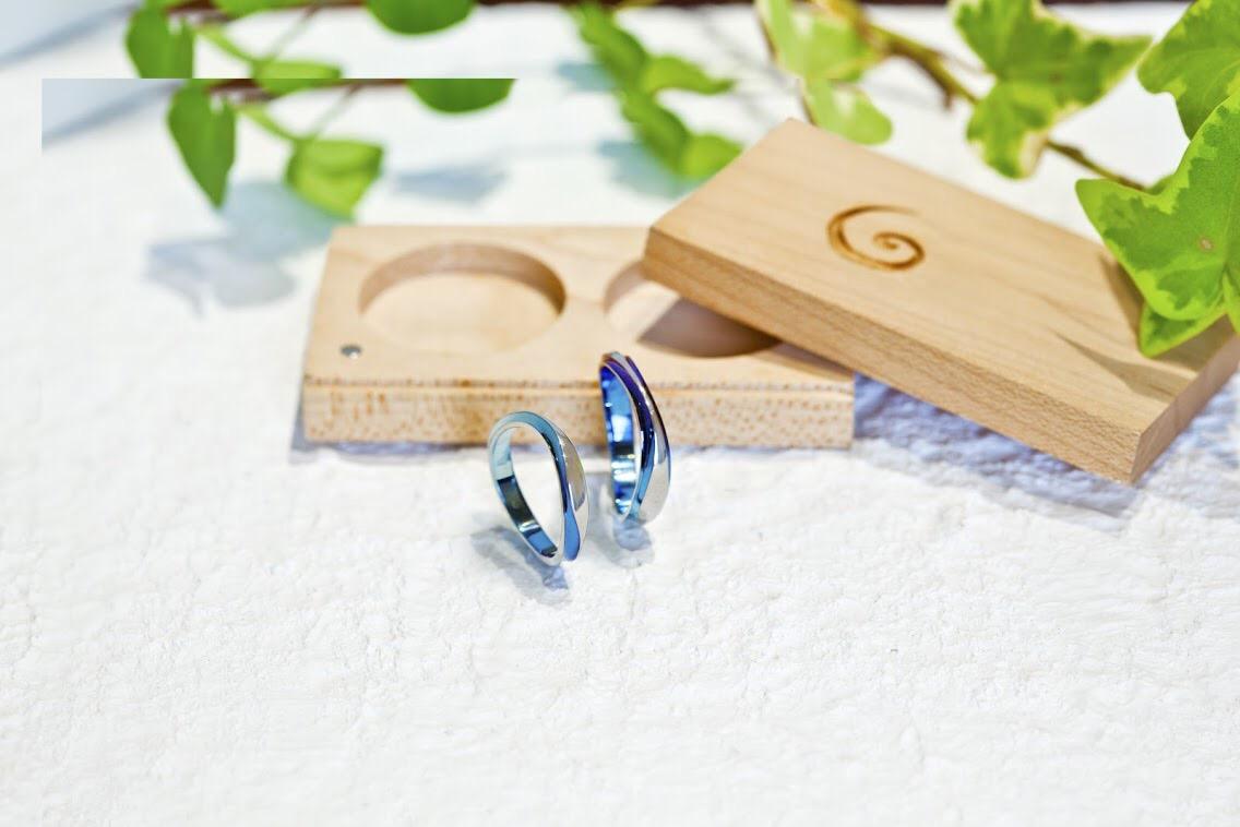 カラフルな結婚指輪「SORA」