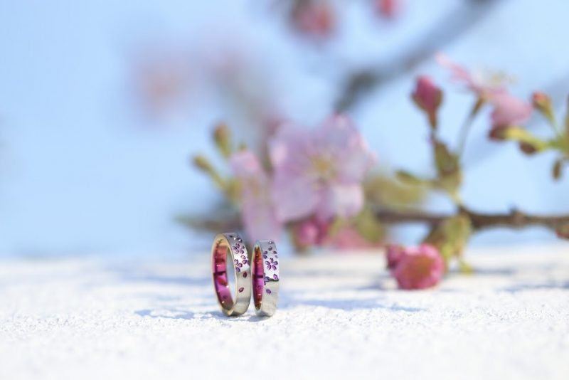 SORAの結婚指輪「舞桜」