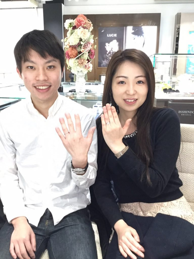 【婚約指輪・結婚指輪】ラザールダイヤモンド「カシオペア」をご成約/A様&A様