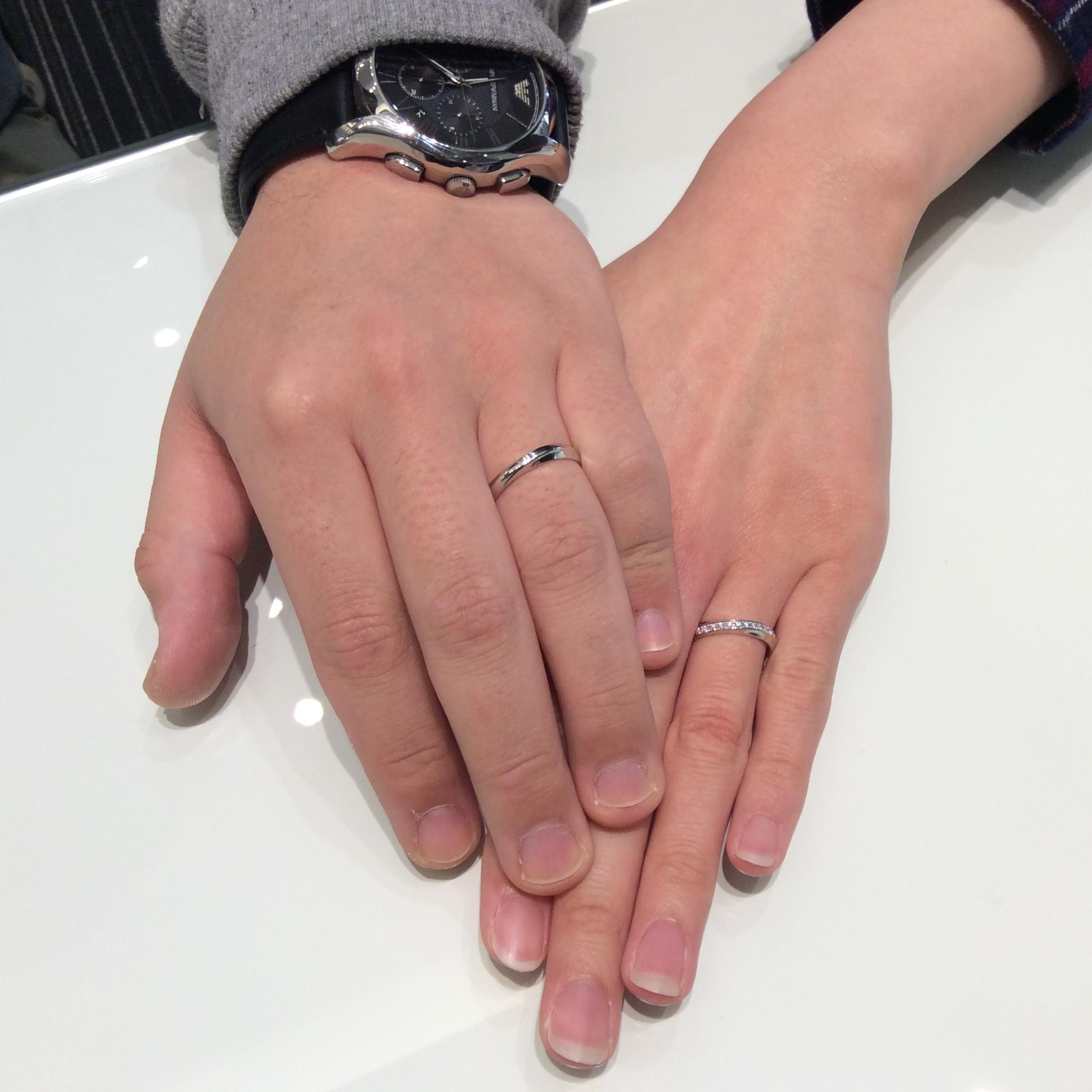 俄(にわか)の結婚指輪「綺羅(きら)」をご成約/上越市H様&M様