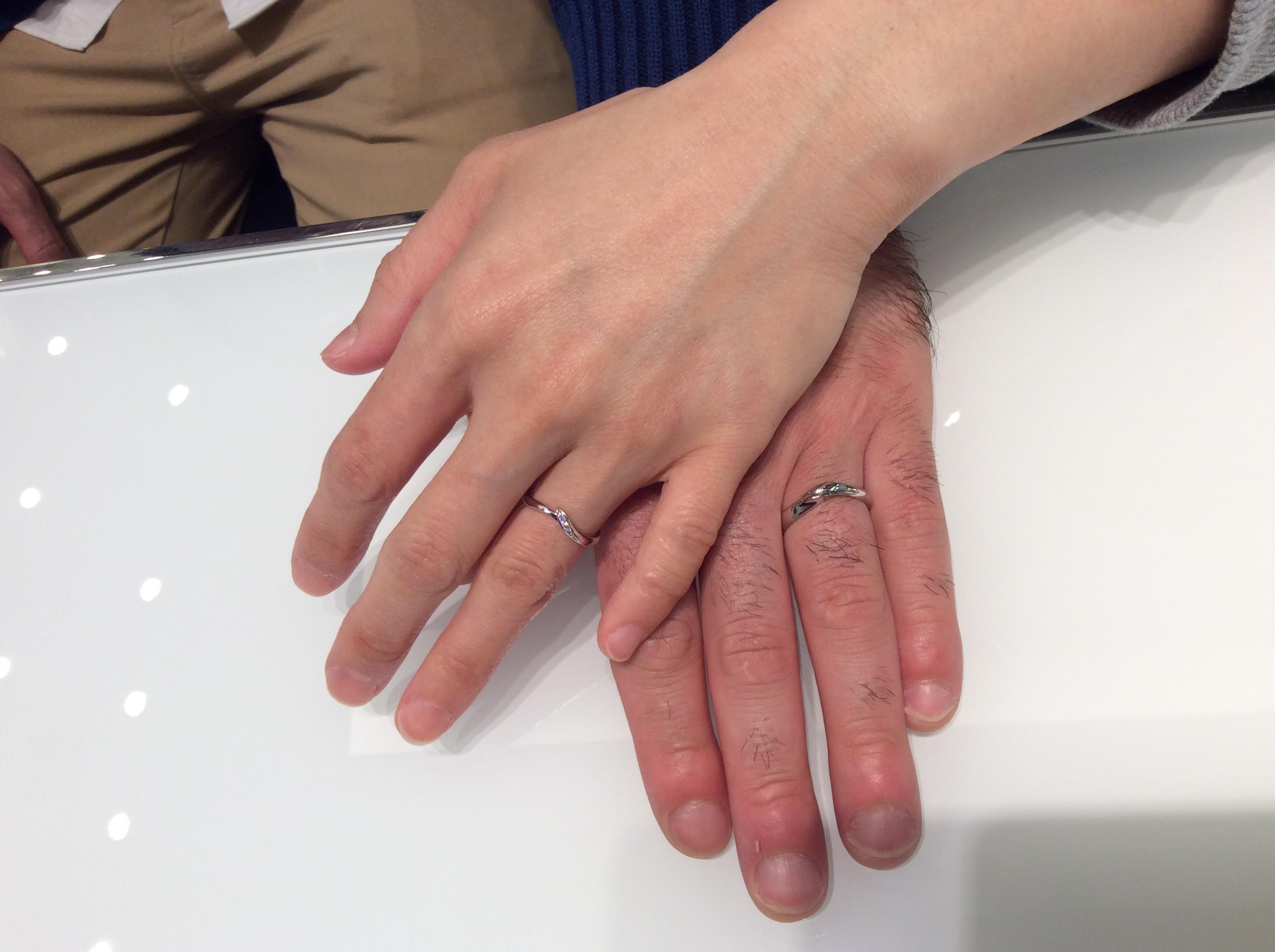 【俄(にわか)】結婚指輪「初桜」をご成約/平 晃典様&石川 久美子様