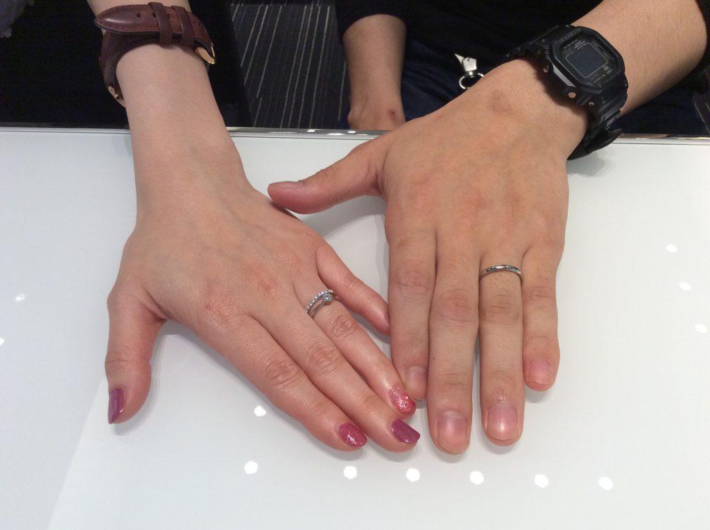 シンプルな結婚指輪 ロイヤルアッシャーをご成約/D様&A様