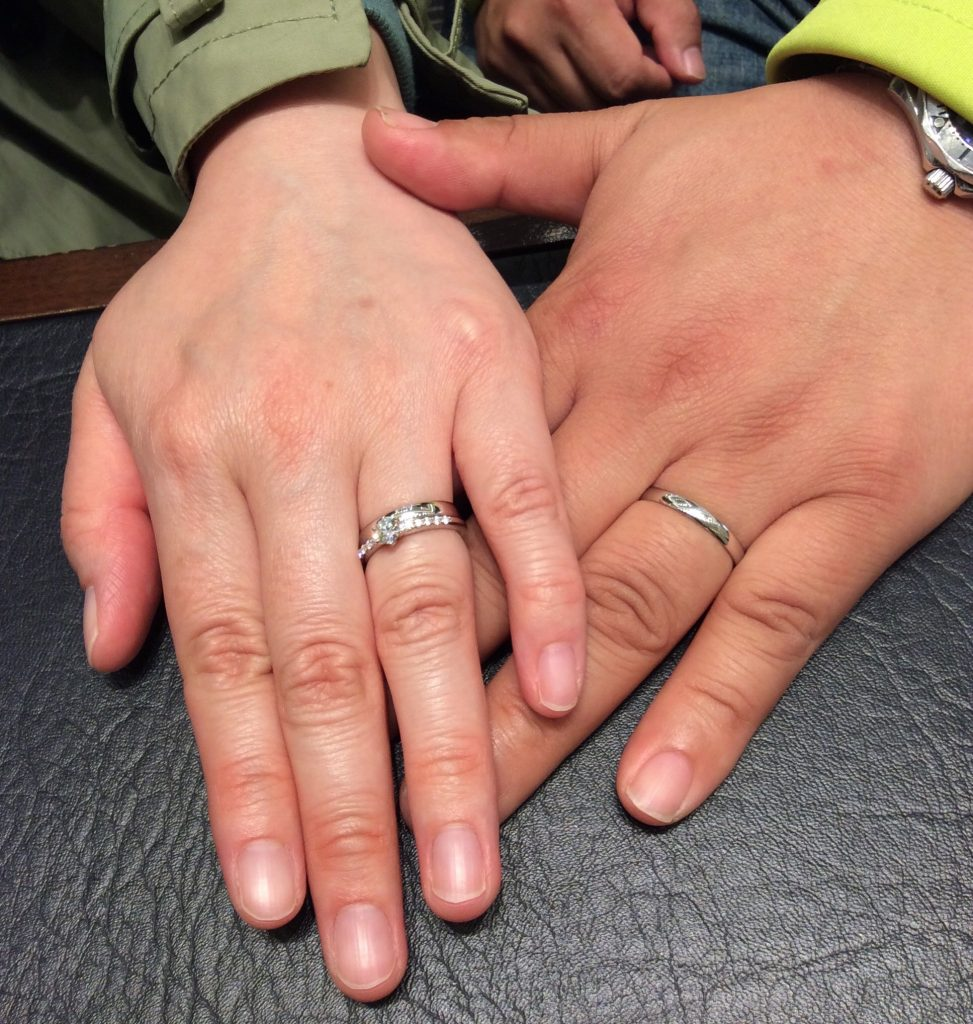 ラザールダイヤモンドの婚約指輪&俄(にわか)の結婚指輪をご成約/D様&A様