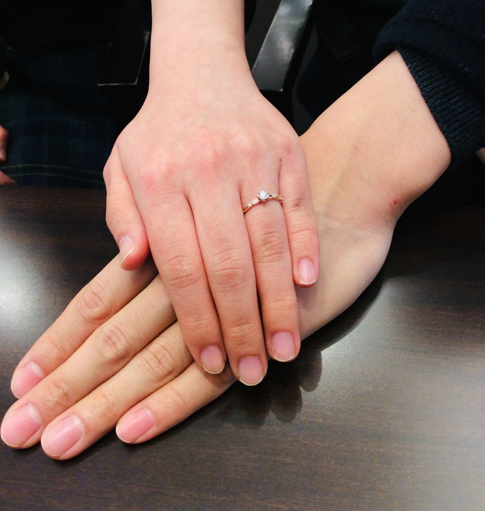 ルシエの婚約指輪「クロシェ」をご成約いただきました/燕市T様&S様
