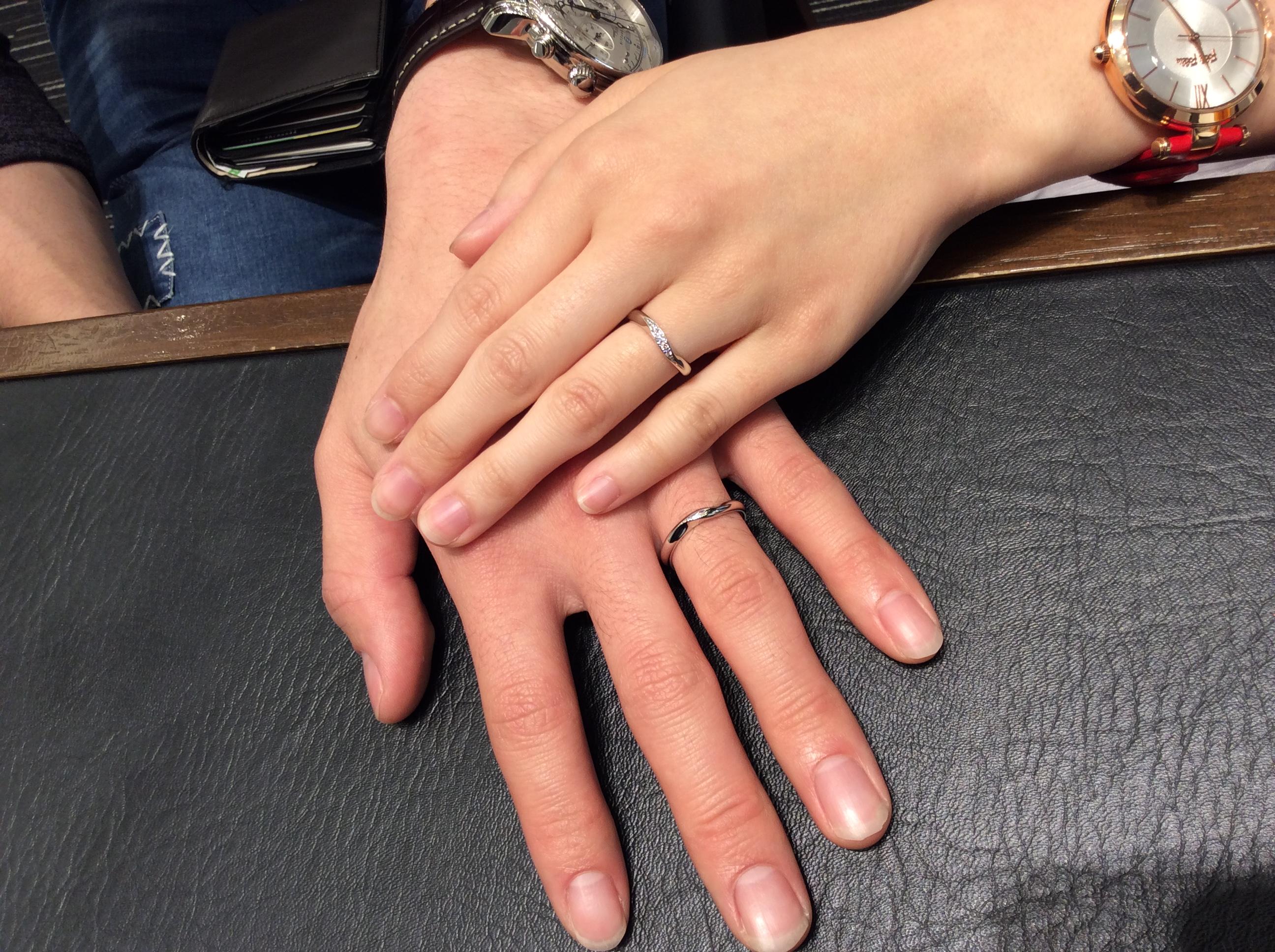 ロイヤルアッシャーの結婚指輪をご成約いただきました/新潟市T様&M様