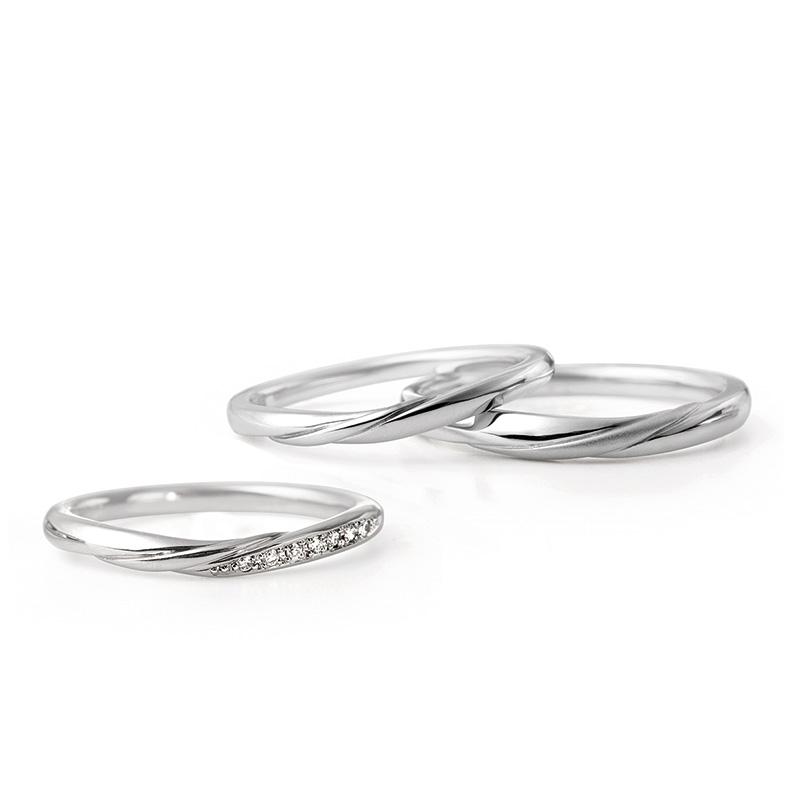 ルシエ 結婚指輪 リップル