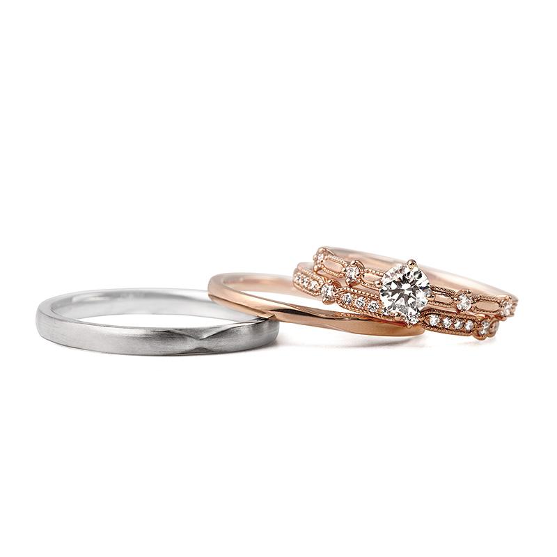 LUCIE(ルシエ)婚約指輪(エンゲージリング) クロシェ画像