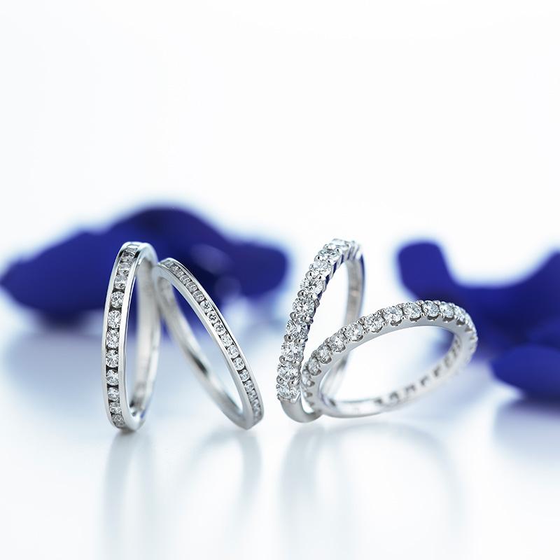 ロイヤルアッシャー婚約指輪(エンゲージリング)結婚指輪(マリッジリング)エタニティ 画像