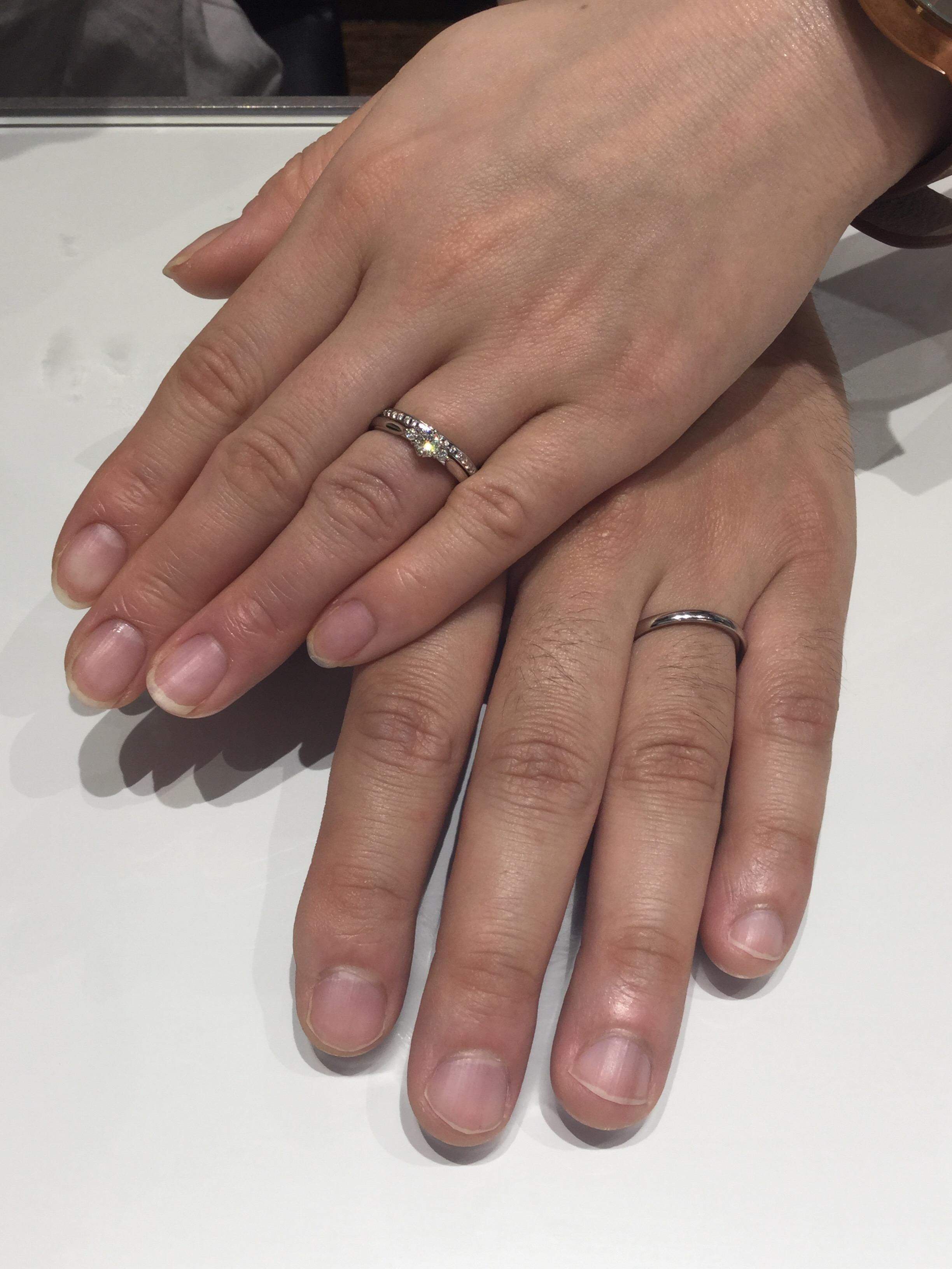 【俄(にわか)】婚約指輪「白鈴」結婚指輪「かれん」をご成約/山形県伊藤様&上野様