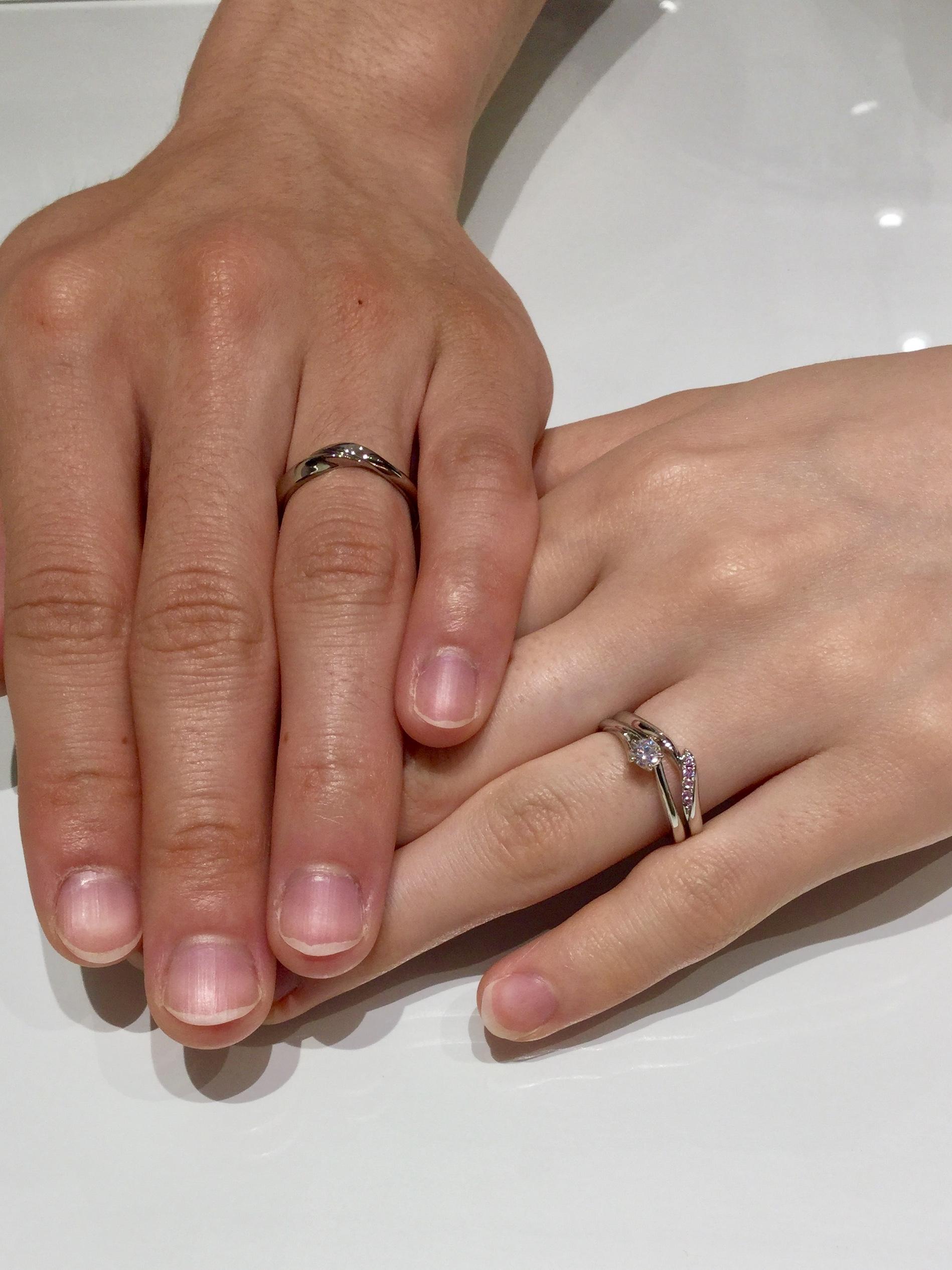 初桜のセットリング(婚約指輪・結婚指輪)をご成約/新潟県新発田市N様・T様