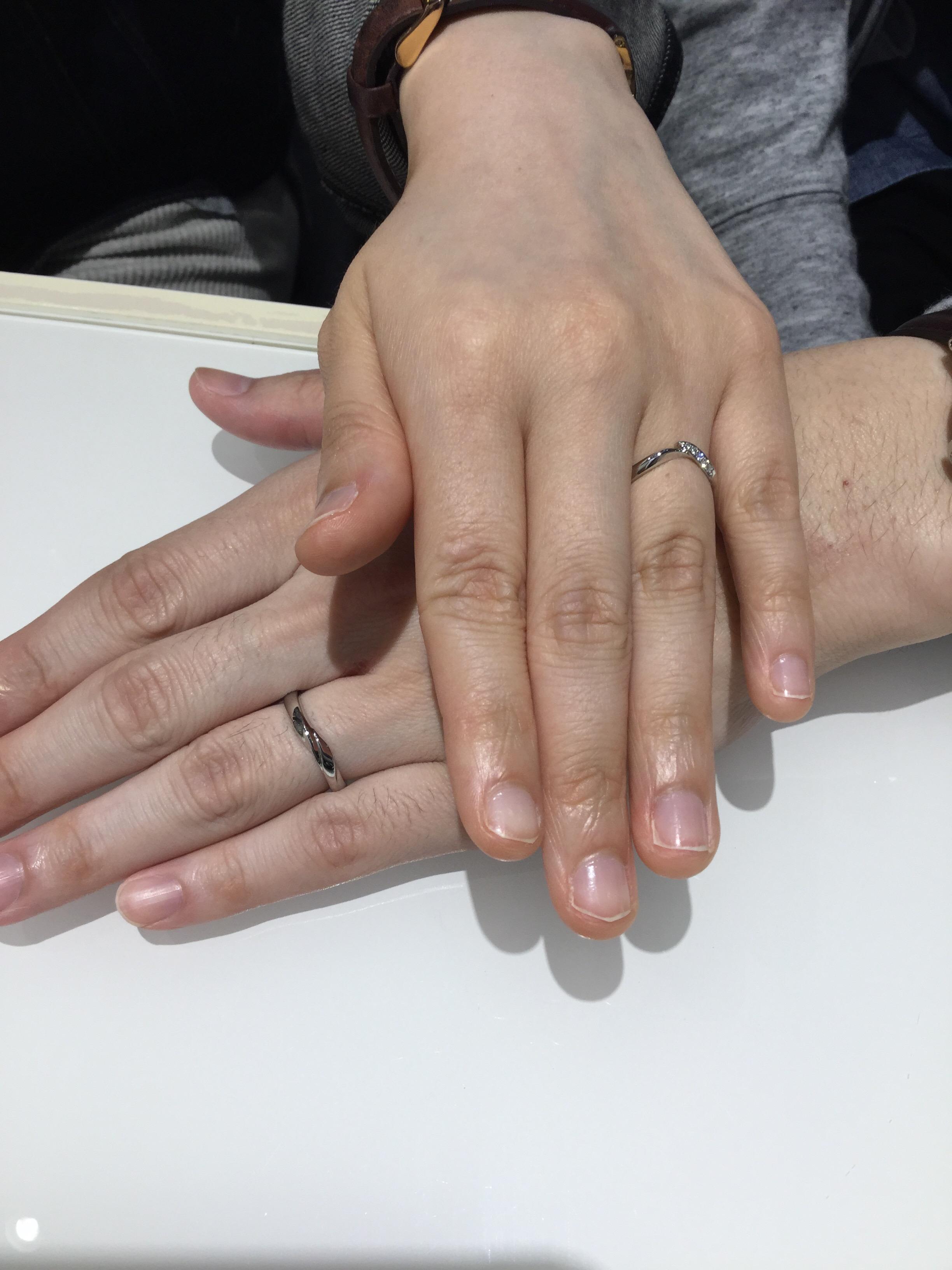 俄の結婚指輪プラチナの「初桜」をご成約。新潟市H様・S様