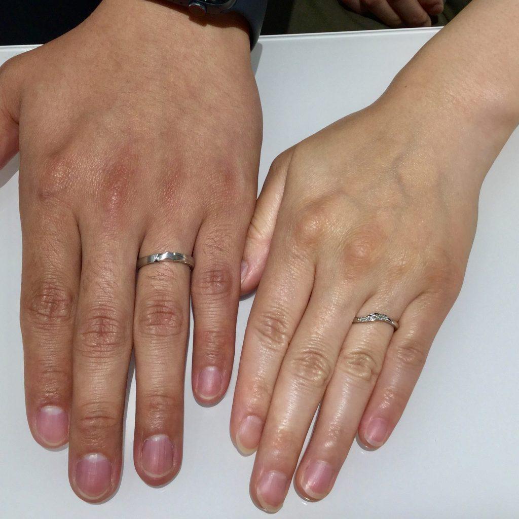 唐花(からはな)の結婚指輪をご成約|新潟市S様・Y様
