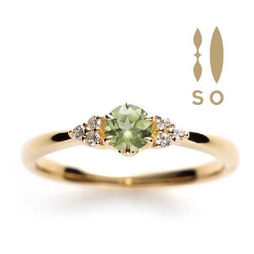 SO(ソウ)婚約指輪(エンゲージリング)ペリドット画像