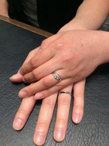 SOの婚約指輪&ロイヤルアッシャーの結婚指輪をご成約いただきました/小千谷市S様&S様