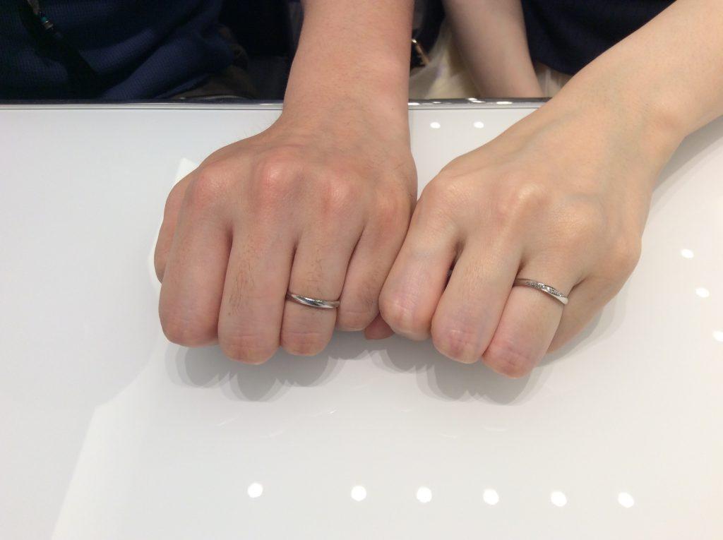 【結婚指輪】ロイヤルアッシャー&CAFERING(カフェリング)をご成約/胎内市R様&M様