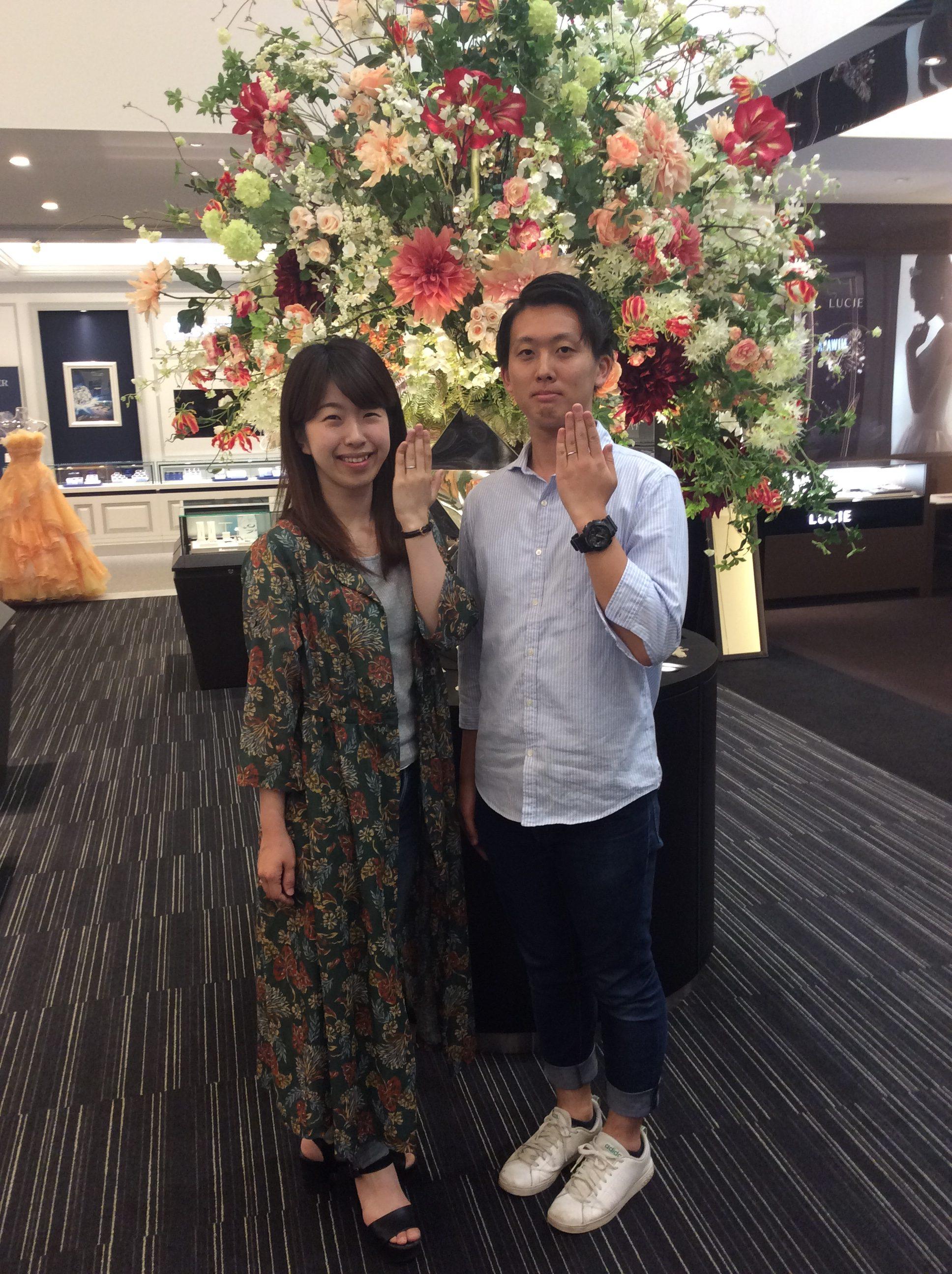 【結婚指輪】ロイヤルアッシャーをお求めいただきました/長岡市T様&C様