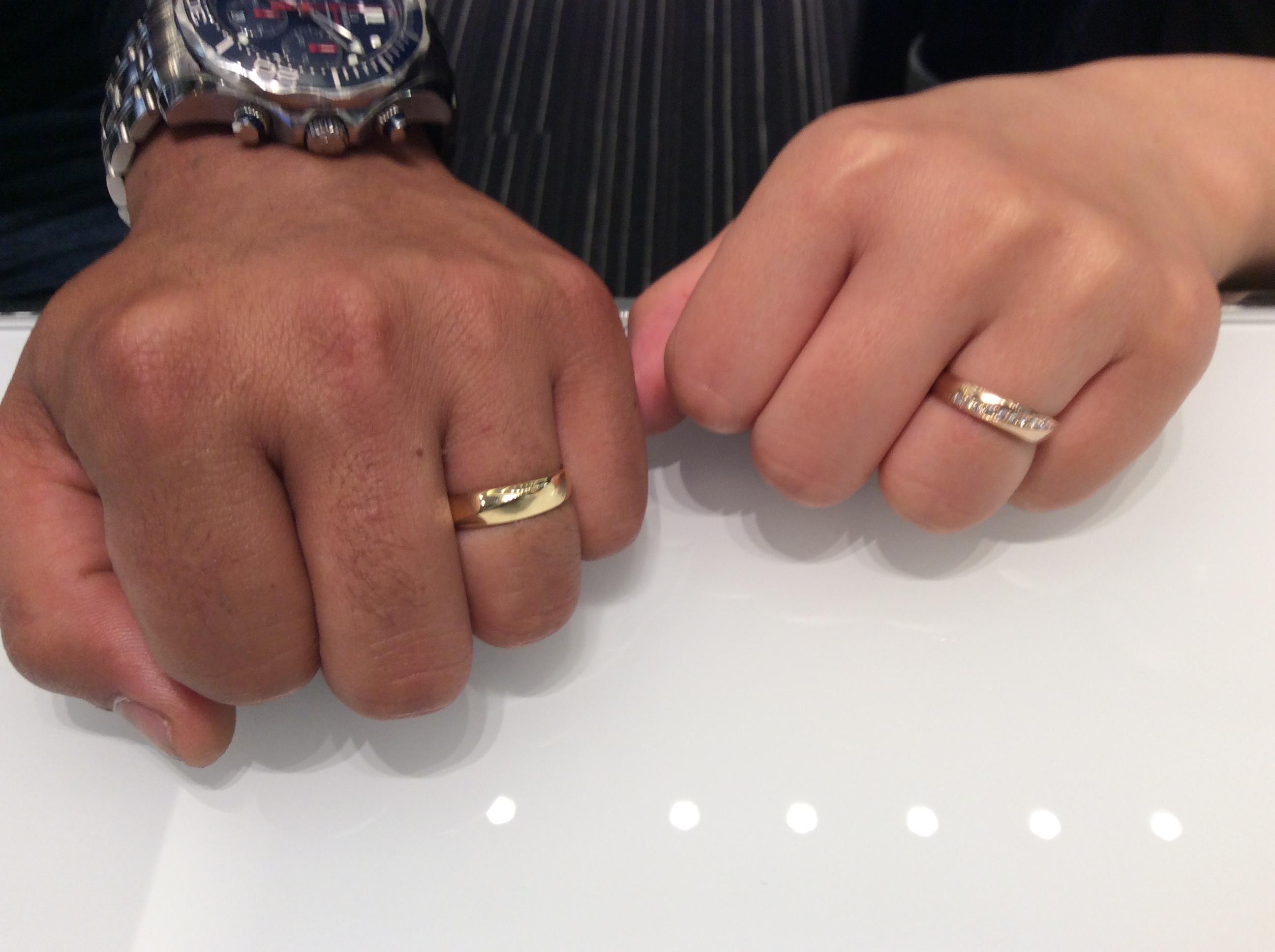 ルシエ「ムーンライト」(結婚指輪)をご成約いただきました/五泉市Y様&K様