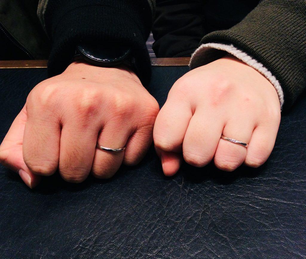 俄(にわか)の結婚指輪「ことのは」をご成約/新潟市A様&M様