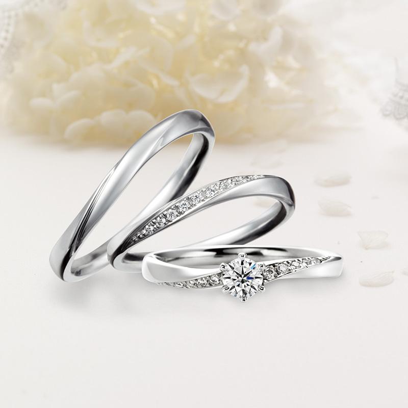 クワンドゥマリアージュ婚約指輪(エンゲージリング)結婚指輪(マリッジリング) トゥジュールアンサンブル画像
