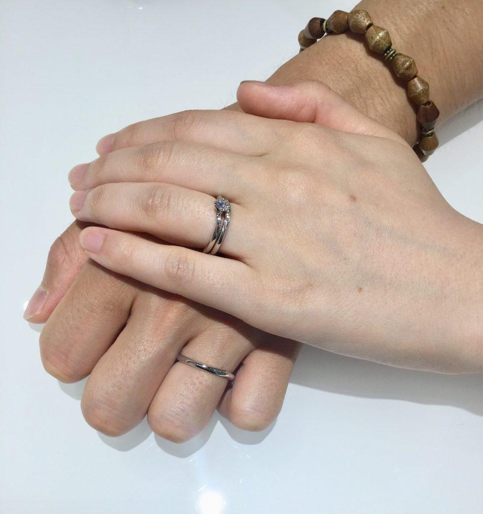 指輪の着け心地が決め手!ルシエのリファ―ジュをご成約。新潟市K様・Y様