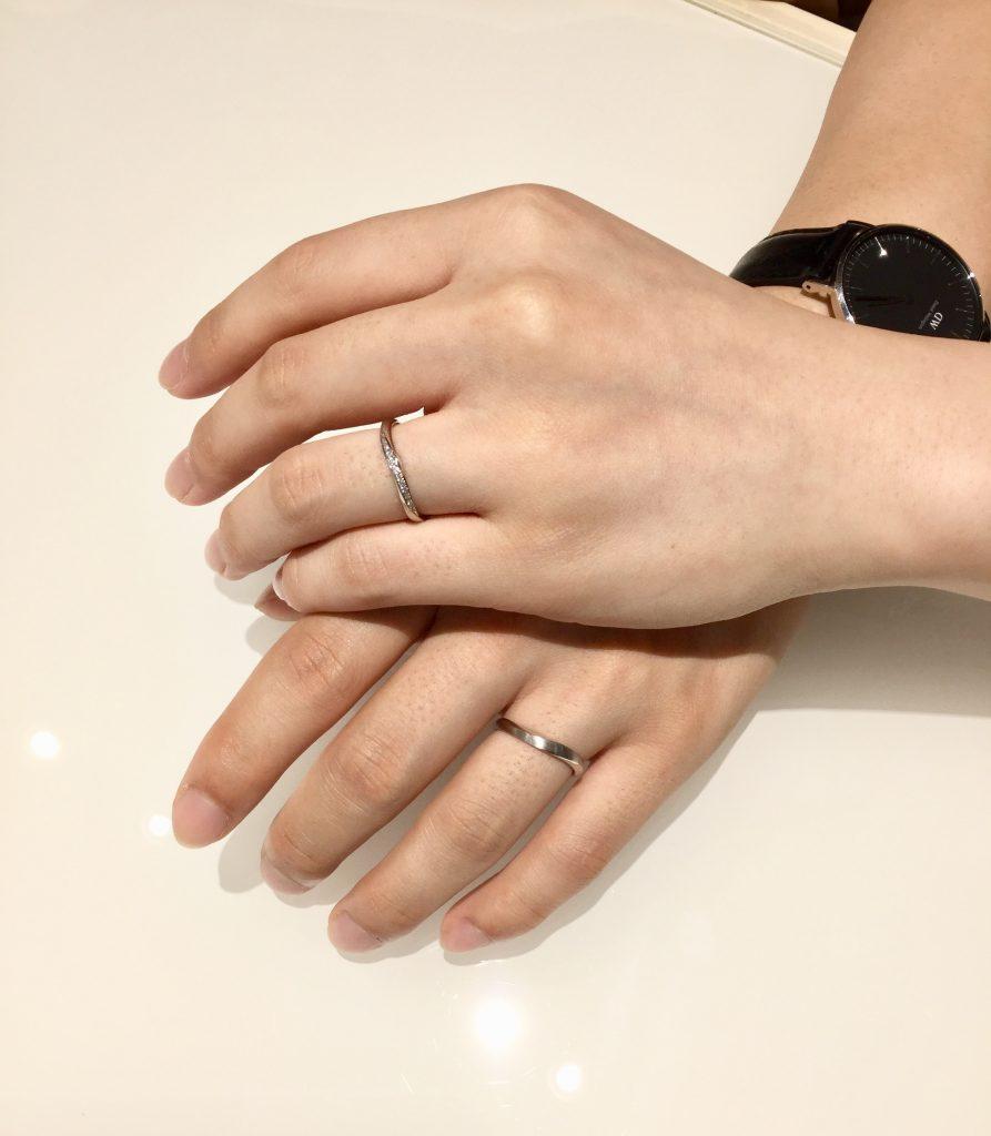 『サムシングブルー』の結婚指輪をご成約。新潟市D様・T様