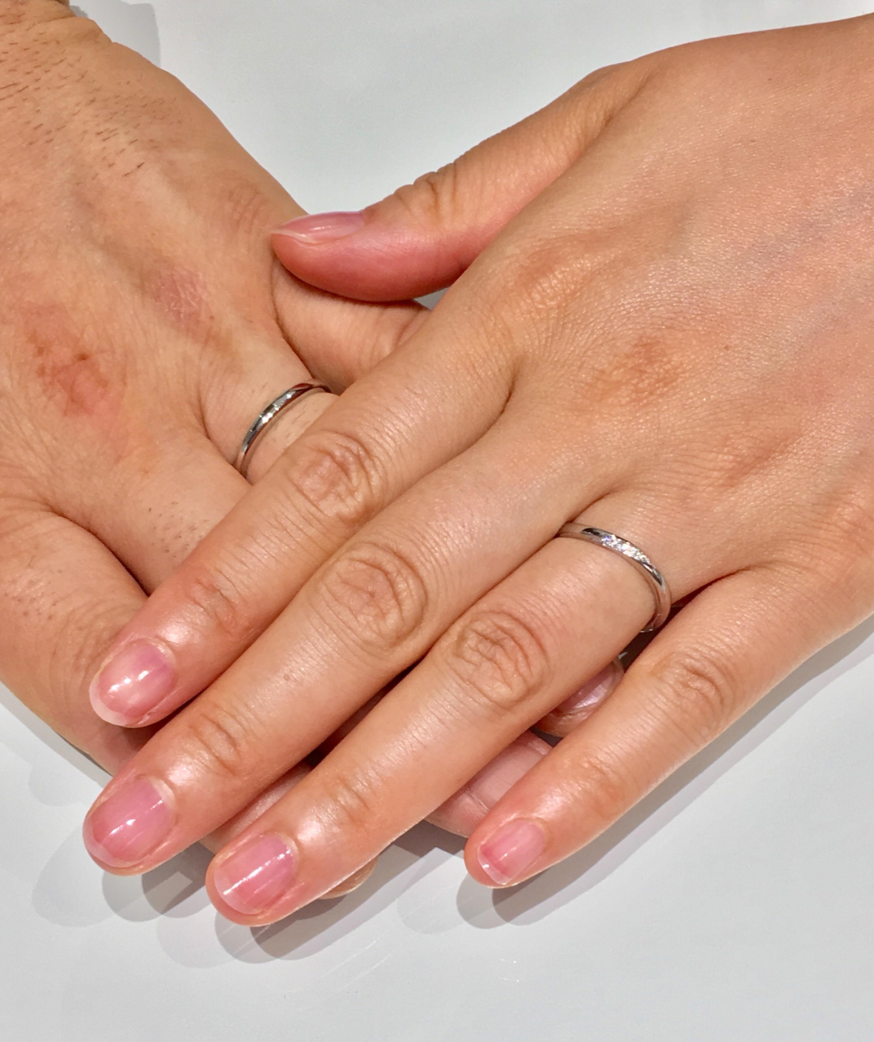 着け心地が決め手!NIWAKA/俄の朝葉の結婚指輪をご成約。新潟市T様・T様