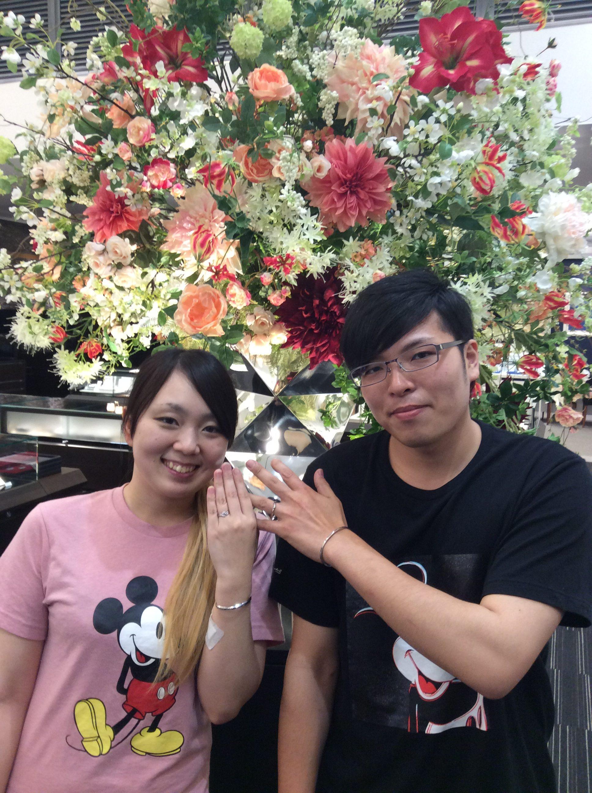 【結婚指輪 婚約指輪】俄(にわか)「ことのは&初桜」をご成約/栗山詢様&島村若菜様