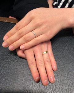 【俄(にわか) 結婚指輪】「八重霞&ことほぎ」をご成約/五泉市S様&Y様ご夫婦
