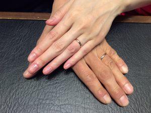俄(にわか)の結婚指輪「ことほぎ」をご成約/新潟市H様&Y様ご夫婦