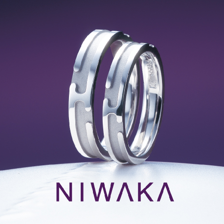 俄(にわか)結婚指輪(マリッジリング) 八重霞(やえがすみ)画像