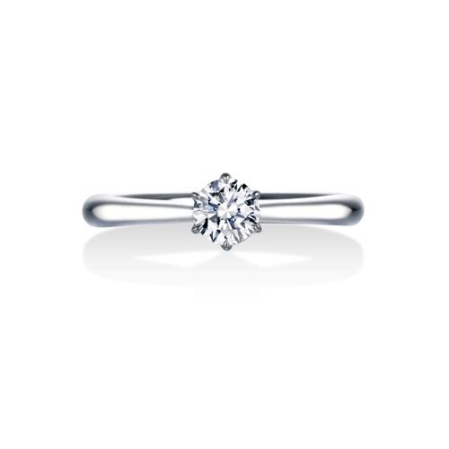 ストレートシンプルの婚約指輪