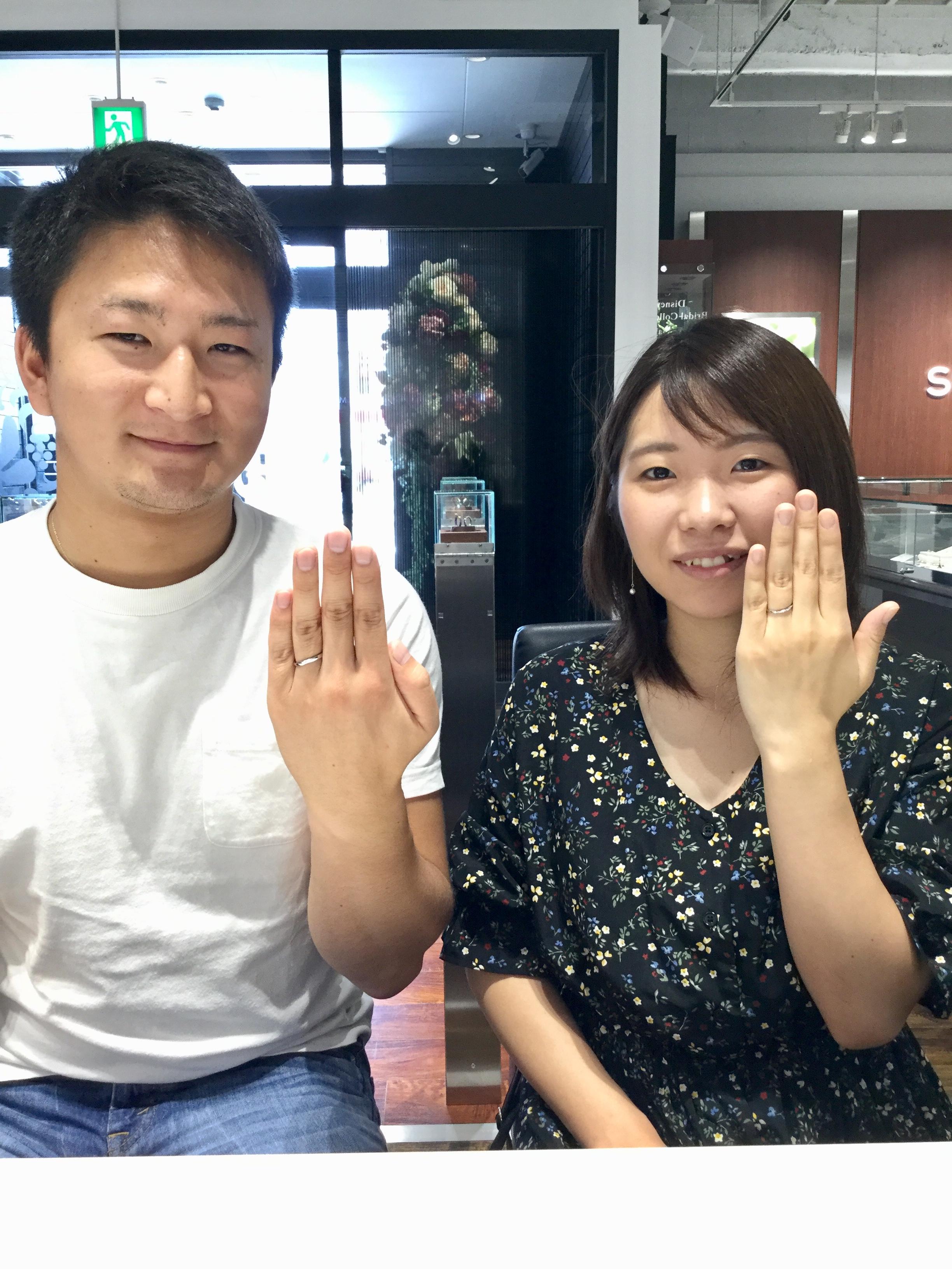 セミオーダーの結婚指輪。ルシエのリファ―ジュをご成約。新潟県胎内市T様・R様